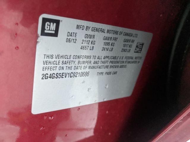 Buick Regal 2012 price $0