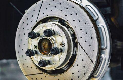 Close Up of Brake Rotor