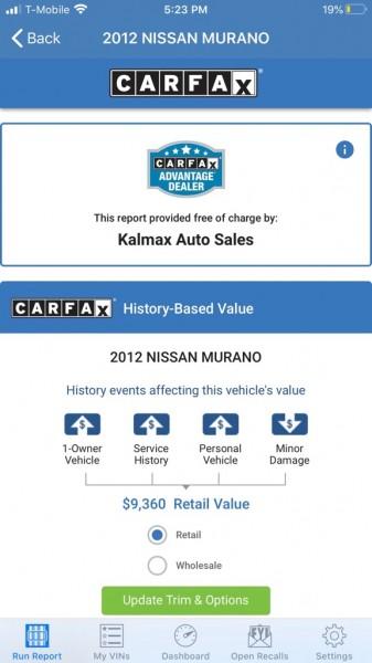 NISSAN MURANO 2012 price $8,495
