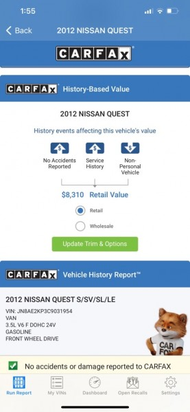NISSAN QUEST 2012 price $6,495