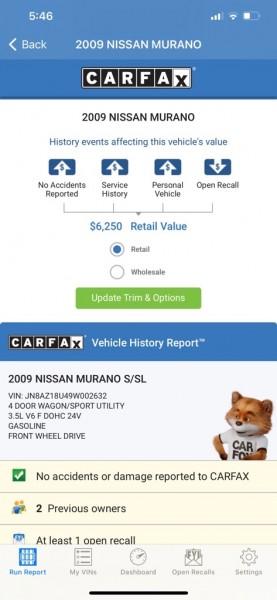 NISSAN MURANO 2009 price $5,295