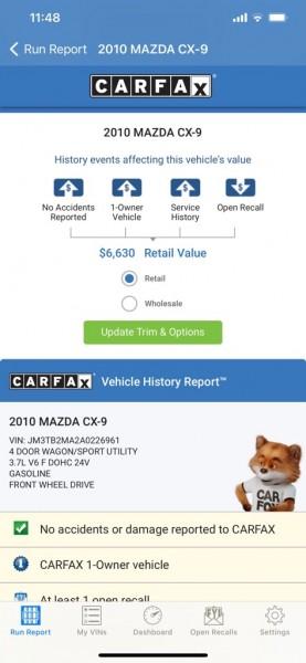 MAZDA CX-9 2010 price $5,795