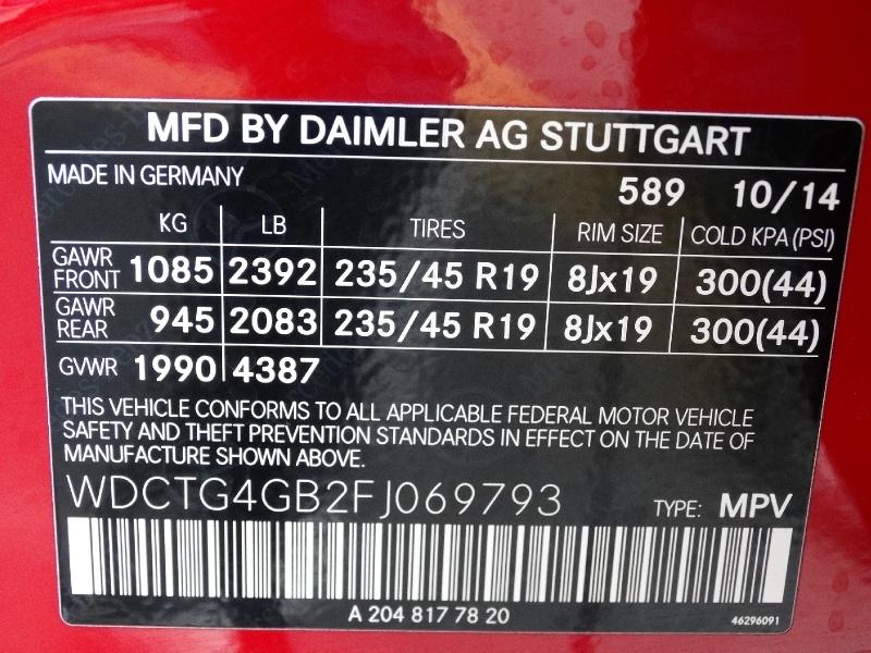 Mercedes-Benz GLA-Class 2015 price $19,995