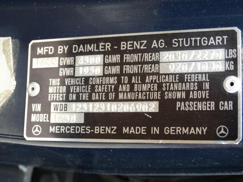 Mercedes-Benz 240D 1980 price $10,995