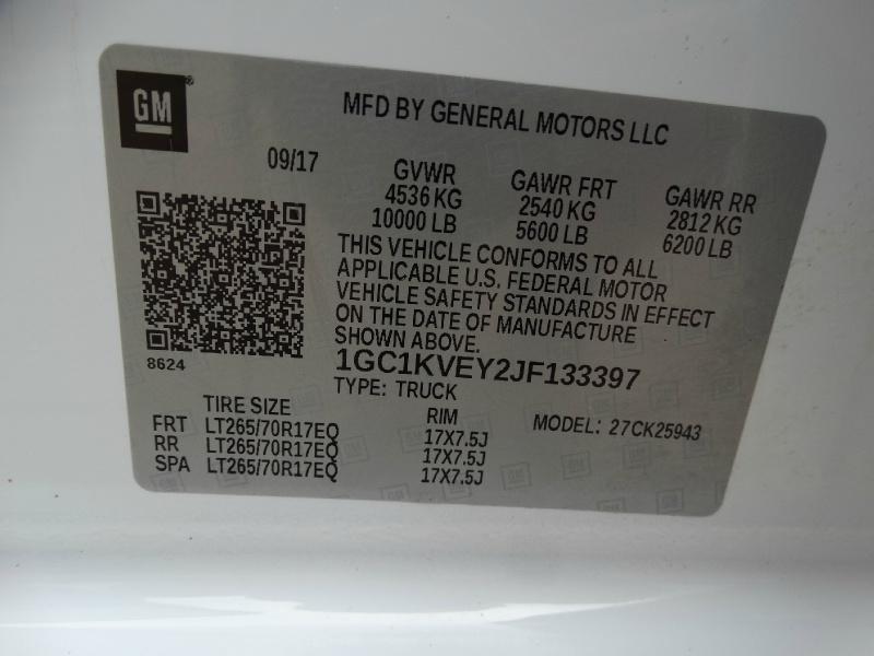 Chevrolet Silverado 2500HD 2018 price $44,995