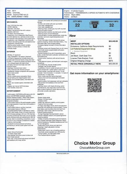 Chevrolet Equinox 2014 price $16,500