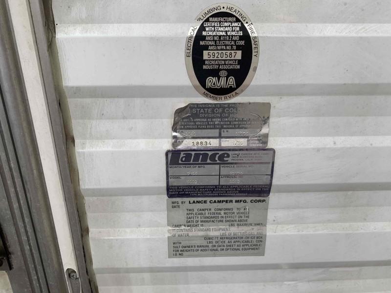 Lance 8000 1996 price $7,995