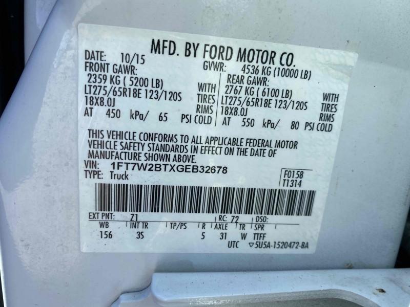 Ford F-250 Super Duty 2016 price $38,995