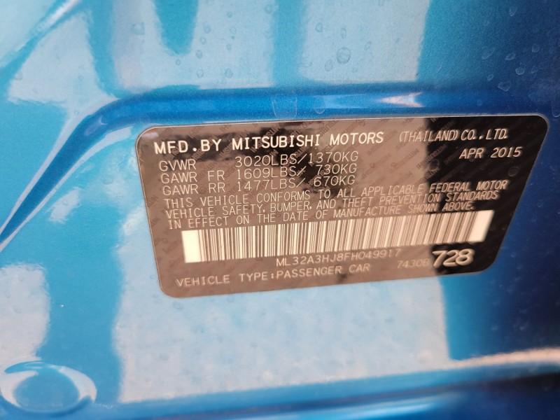 Mitsubishi Mirage 2015 price $6,995