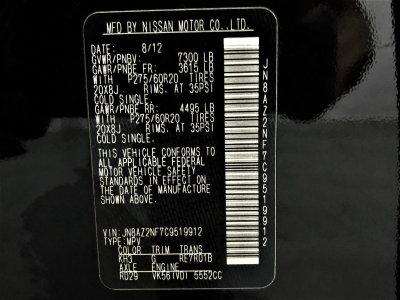 Infiniti QX56 2012 price $17,495