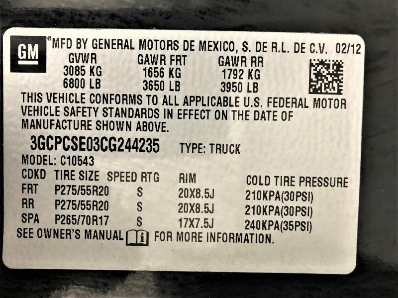 Chevrolet Silverado 1500 2012 price $16,995