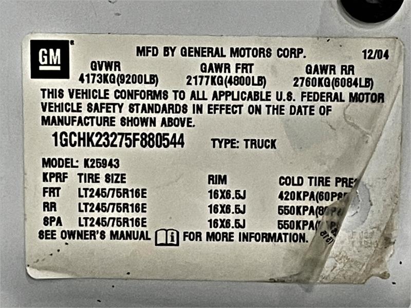 Chevrolet Silverado 2500HD 2005 price $25,995