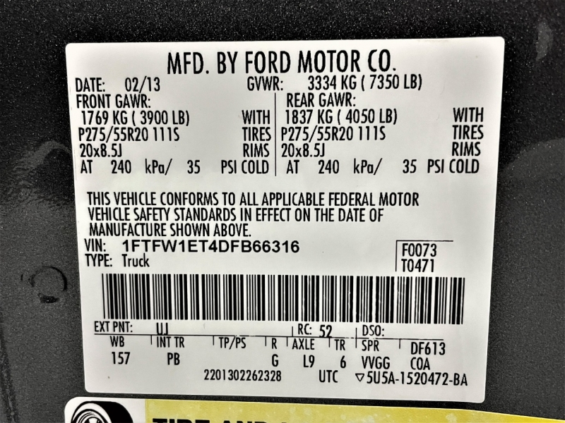 Ford F-150 2013 price $29,995