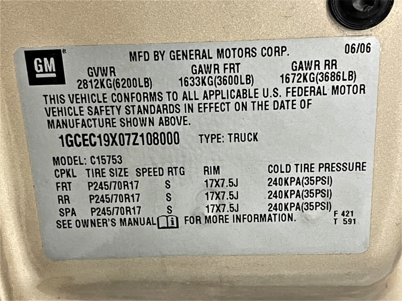Chevrolet Silverado 1500 Classic 2007 price $13,495