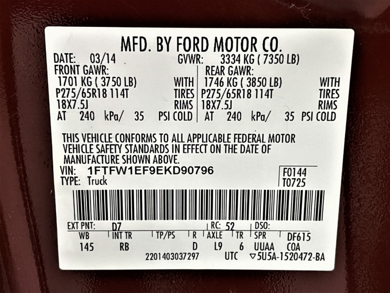 Ford F-150 2014 price $22,895