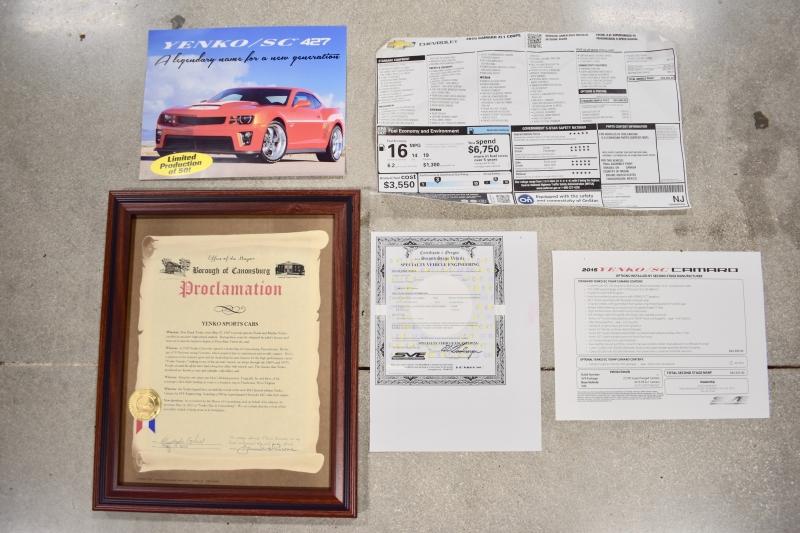 Chevrolet Yenko Camaro 427 SC SERIAL #1 2015 price $149,990