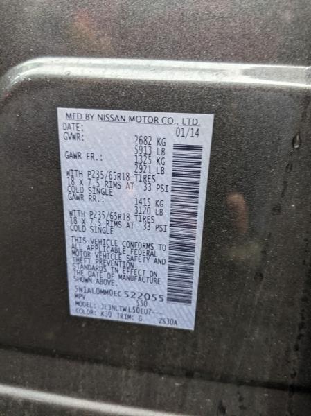 Infiniti QX60 2014 price $14,995