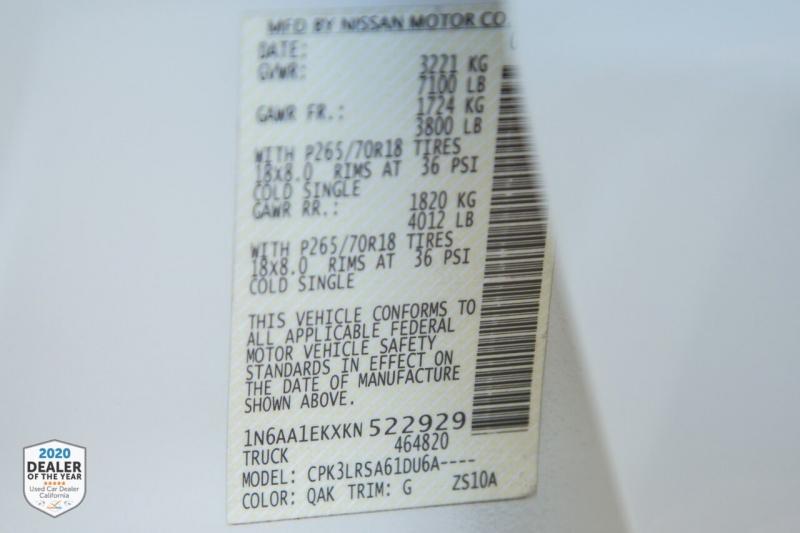 Nissan Titan 2019 price $31,900